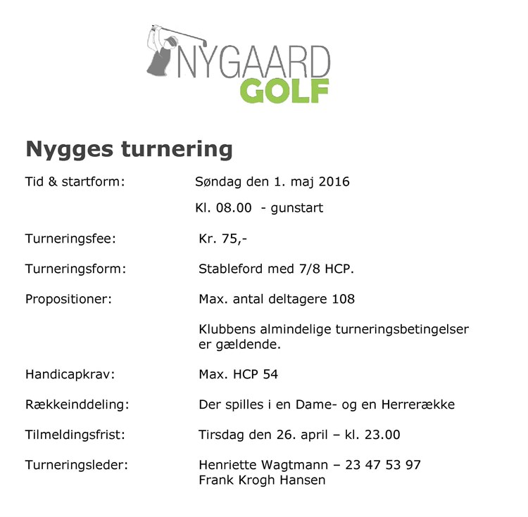 Nygges Turnering 20161